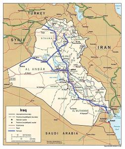 [Map of Iraq showing railway routes]