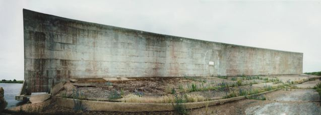 [Panoramic photograph of the 200 foot sound mirror at Denge]