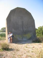 [Photograph of 20 foot sound mirror, 4 September 2005]