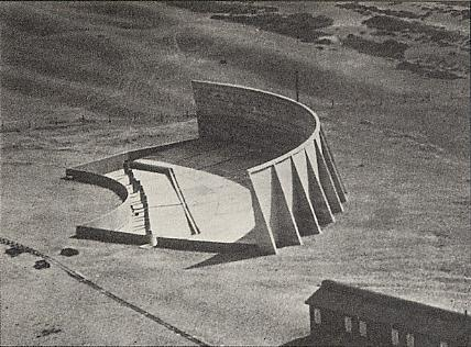 [Historic photo of 200 foot sound mirror]