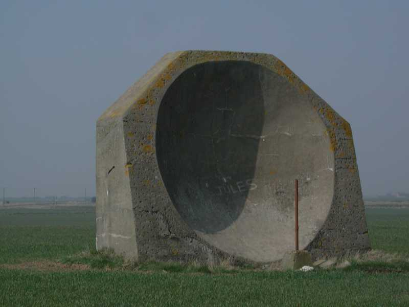 Photo of the sound mirror at Kilnsea