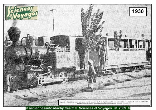 Photo of Kabul to Darulaman railway train from French magazine Sciences et Voyages of 3 April 1930