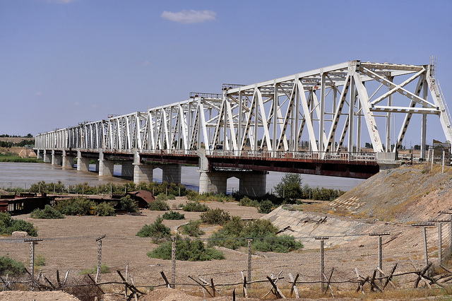 The Friendship Bridge between Uzbekistan and Afghanistan