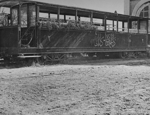 Abandoned railway coach in Kabul