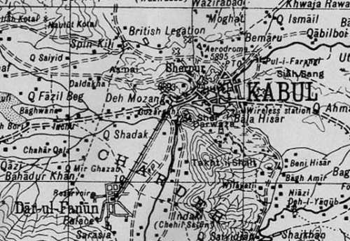 [Map showing Kabul to Darulaman tramway]