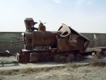 Photo of steam locomotive in Afghan national museum, Kabul, 14 October 2004 (Photo: Wim Brummelman)