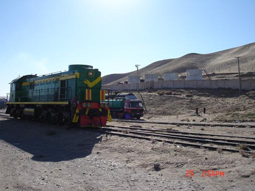 Turkmen Railways locomotive at Towraghondi
