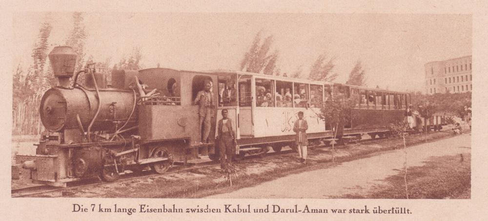 Magazine photograph of a train at Darulaman