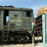 Train at the Afghanistan - Turkmenistan border