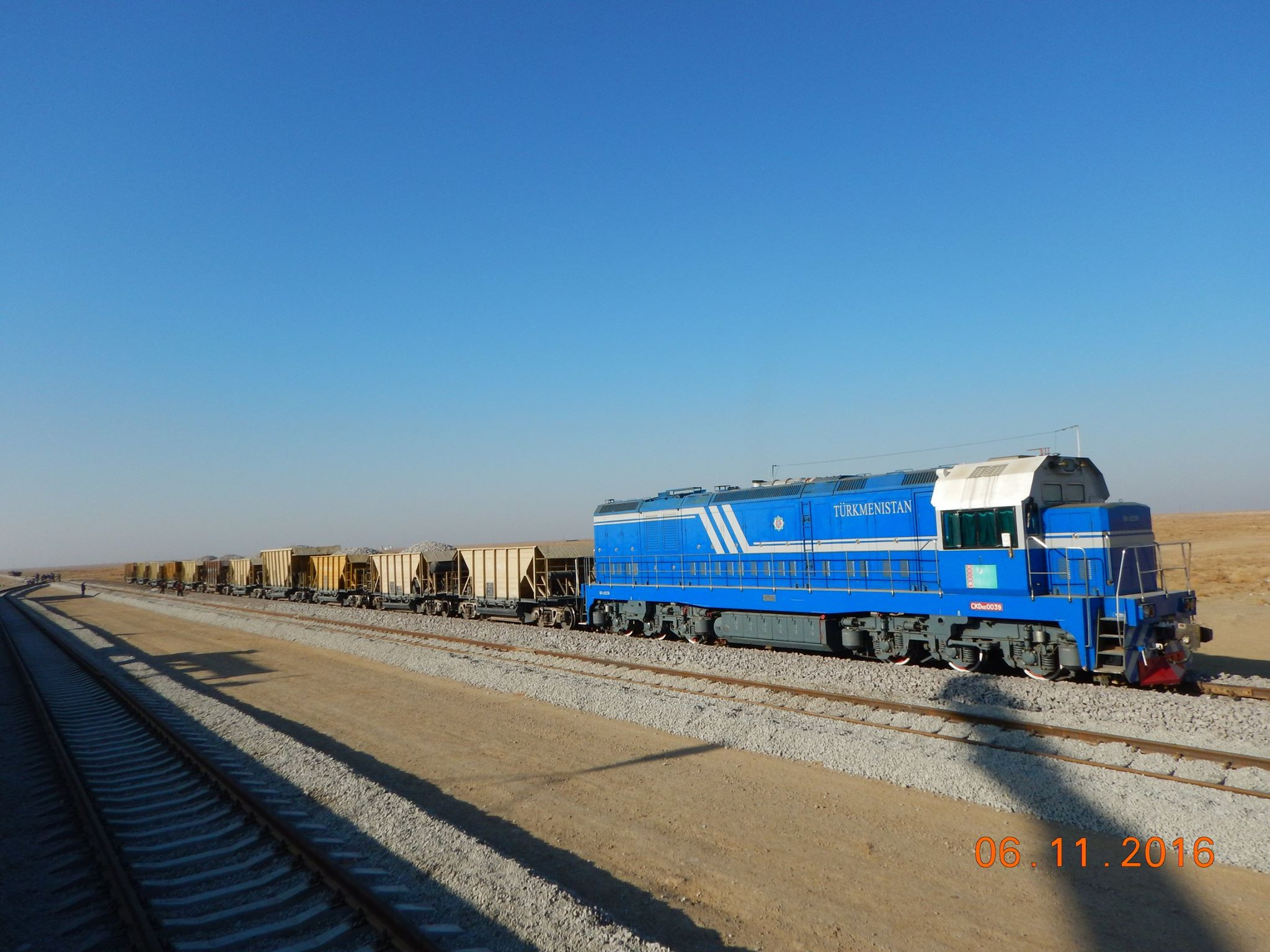 Turkmenistan to Aqina railway