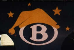 [Belgian National Railways logo with nightcap]