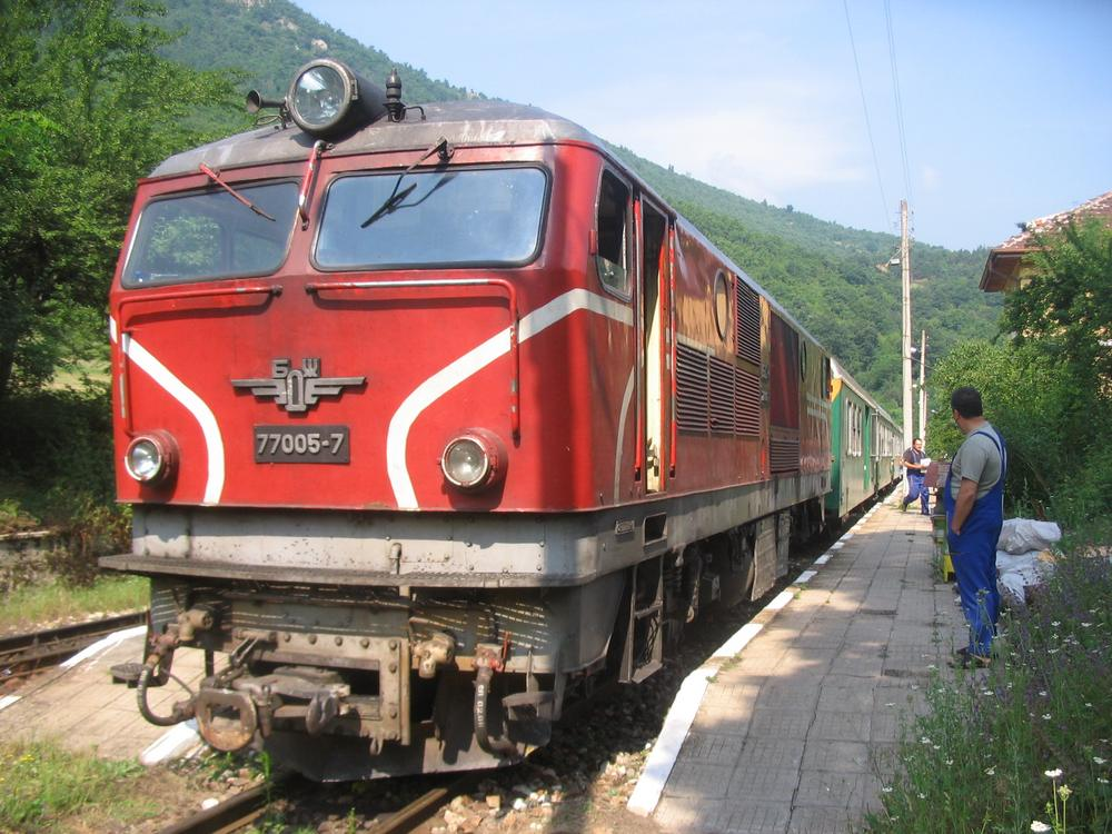 Bulgarian narrow-gauge train