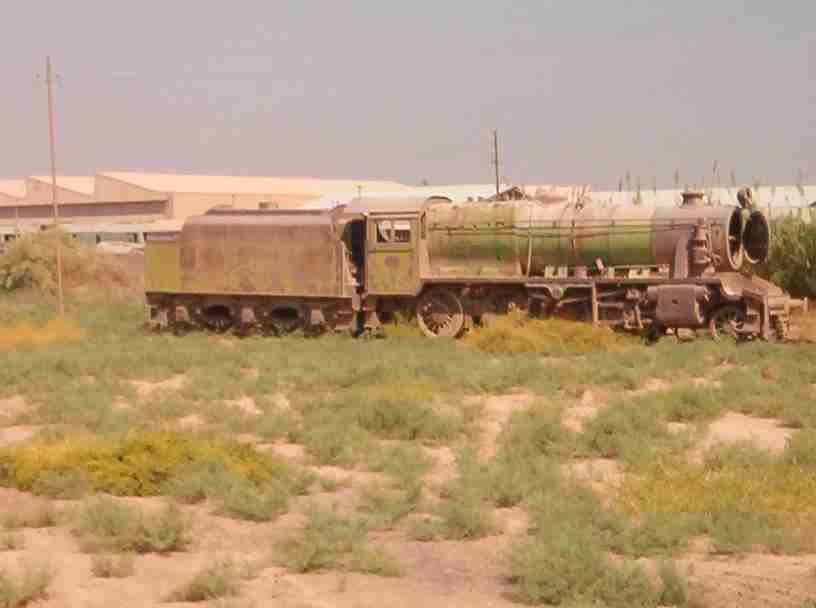 Class 8F steam loco in Baghdad (Photo: Gordon Mott 2003)