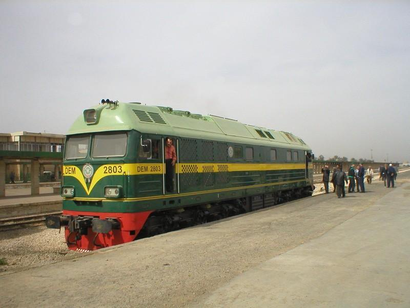 Iraqi Republic Railways DEM2800 locomotive. Photo: Rick Degman