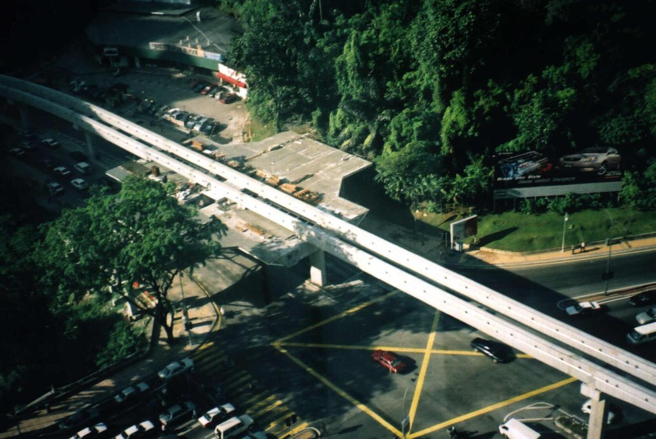 [Monorail under construction at Bukit Nanas]