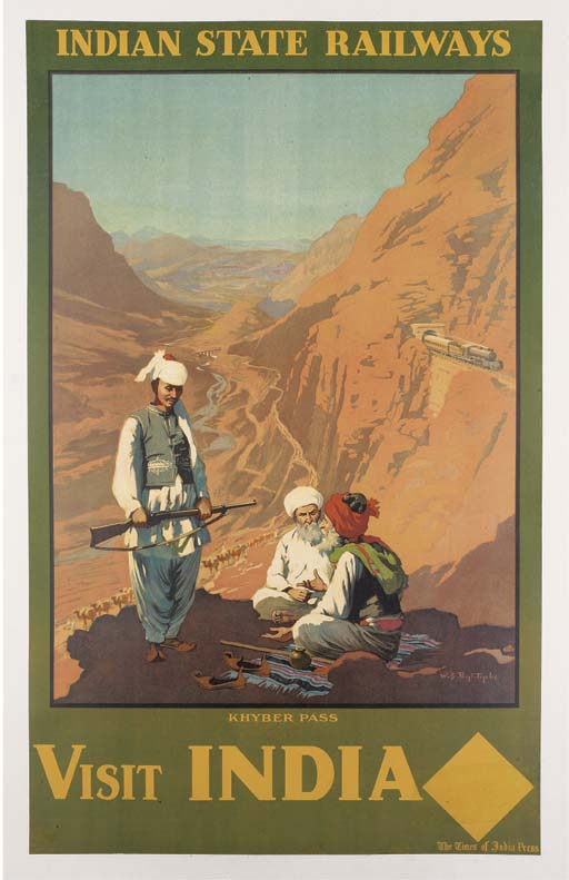 Indian State Railways poster advertising the Khyber Pass