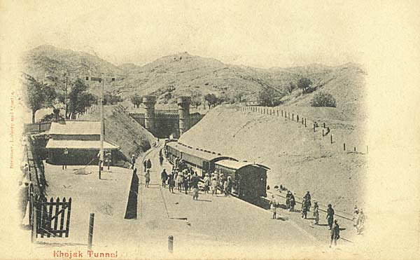 the Khojak tunnel, circa 1905