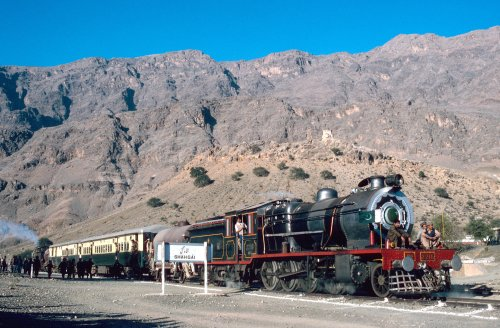Steam train in Khyber Pass