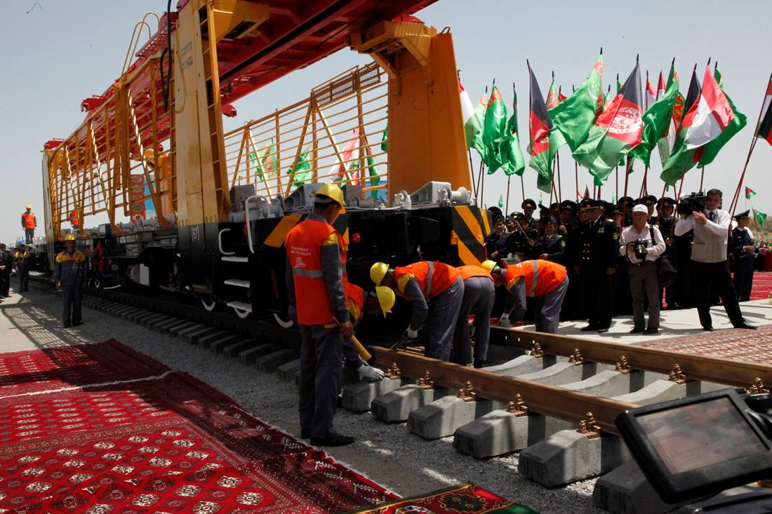 Launch of construction of the Turkmenistan to Afghanistan railway, 5 June 2013 (Photo: ARG Facebook page)