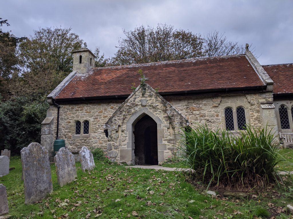 Old Church of St Boniface. Bonchurch, Isle of Wight